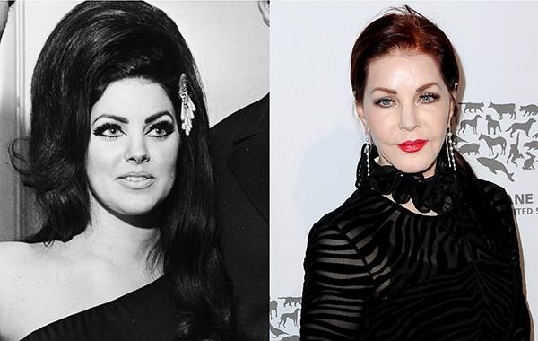Priscilla Presley em 1971 e em 2016 (Foto: Getty Images)