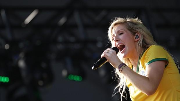 Ellie Goulding se apresenta no Palco 1 (crditos: Andr Bittencourt) (Foto: Andr Bittencourt)
