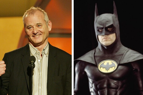 Bill Murray perdeu o papel de Batman para Michael Keaton (Foto: Getty Images / Reprodução)