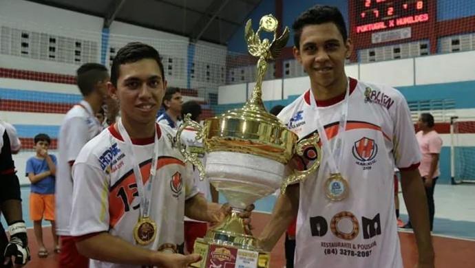 Wellington Torres e Maxwell Nascimento - futsal (Foto: Wendell Jefferson)