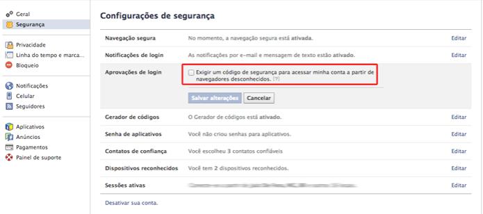 Exigindo o envio de um código de segurança para acessar sua conta de navegadores desconhecidos (Foto: Reprodução/Marvin Costa) (Foto: Exigindo o envio de um código de segurança para acessar sua conta de navegadores desconhecidos (Foto: Reprodução/Marvin Costa))