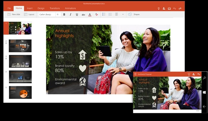 PowerPoint para Windows 10 (Foto: Divulgação)
