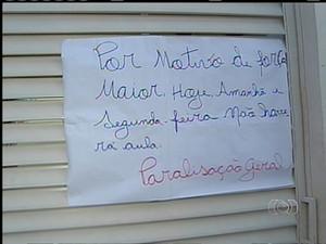 Professores de creche em Palmas paralisam por três dias (Foto: Reprodução/TV Anhanguera)