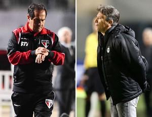 Muricy Ramalho e Renato Gaúcho São Paulo x Grêmio (Foto: Marcos Ribolli / Globoesporte.com)