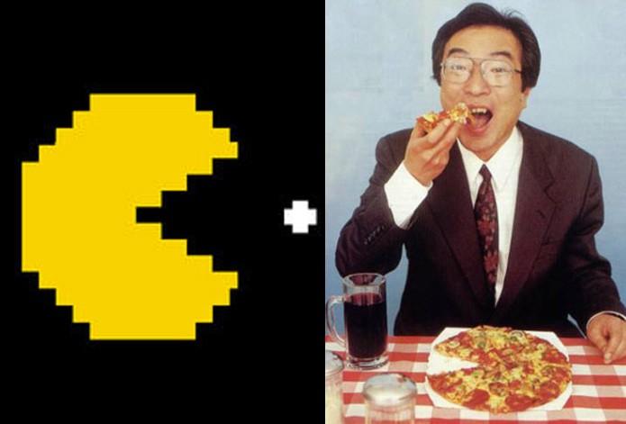 As origens de Pac-Man em uma pizza (Foto: Reprodução/Felipe Vinha)