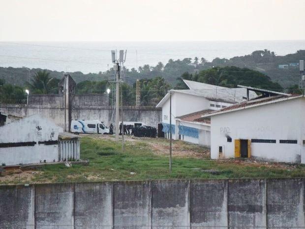Detentos são transferidos de pavilhão de Alcaçuz (  (Foto: Fred Carvalho/G1)