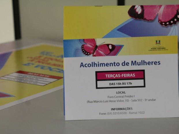 Em Porto Alegre, há grupos de acolhimento para mulheres que sofrem violência (Foto: Joyce Heurich/G1)
