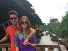 Marina Ruy Barbosa tem dia de turista com Xandinho Negrão na Tailândia