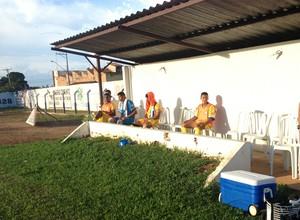 Banco de reservas do Interporto, na partida contra o Tocantins (Foto: Vilma Nascimento/GloboEsporte.com)