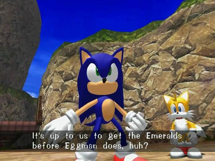 Sonic Adventure DX HD vem incompleto sem DLC (Foto: Divulgação/Sega)