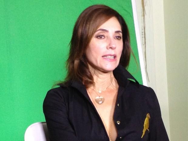 Christiane Torloni durante gravao do programa