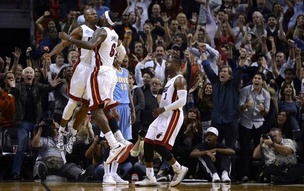 Ray Allen LeBron James Miami Heat NBA (Foto: Reuters)