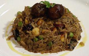 Versão de Claude Troisgros: arroz de pato com funghi porcini e macadâmia