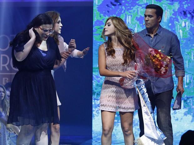 Bélgica fica inconformada com o resultado do concurso (Foto: Raphael Dias/Gshow)