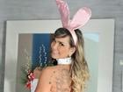 Eliana Amaral posa de coelhinha de Páscoa sexy: 'Um ano sem chocolate'