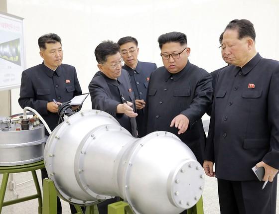 Teste nuclear na Coreia do Norte  (Foto: KCNA via KNS/AFP)