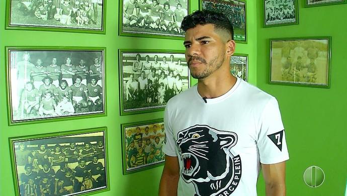 Léo Bahia atacante Alecrim (Foto: Reprodução)