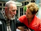 Dilma Rousseff encontra Fidel em visita a Cuba para reunião da Celac
