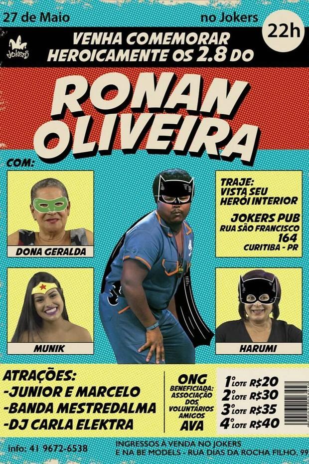 Ronan Oliveira (Foto: Instagram / Reprodução)