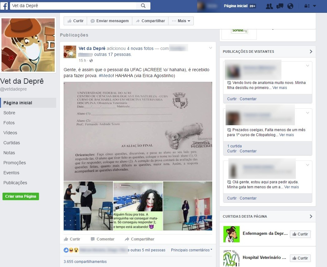 Bem humorado, professor se inspirou em Jogos Mortais e viralizou nas redes sociais  (Foto: Reprodução/Facebook)
