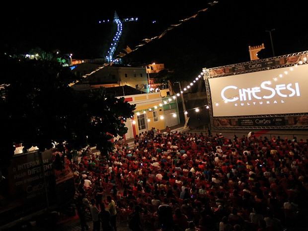 Cine Sesi Cultural no município de Piranhas (Foto: Divulgação/Cine Sesi)