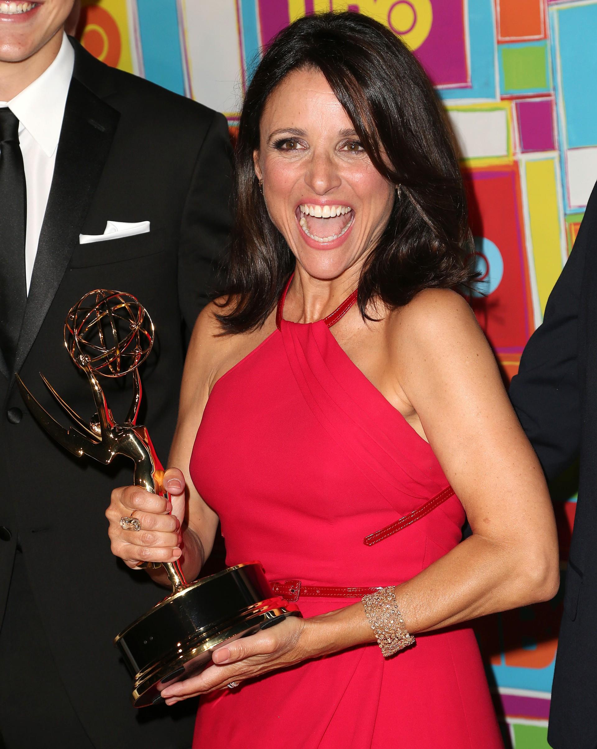 A protagonista de 'Veep' e ganhadora do Emmy de Melhor Atriz Coadjuvante por 'Seinfeld' é a herdeira da fortuna do grupo Louis Dreyfus, empresa envolvida com petróleo, agricultura, energia e commodities. (Foto: Getty Images)
