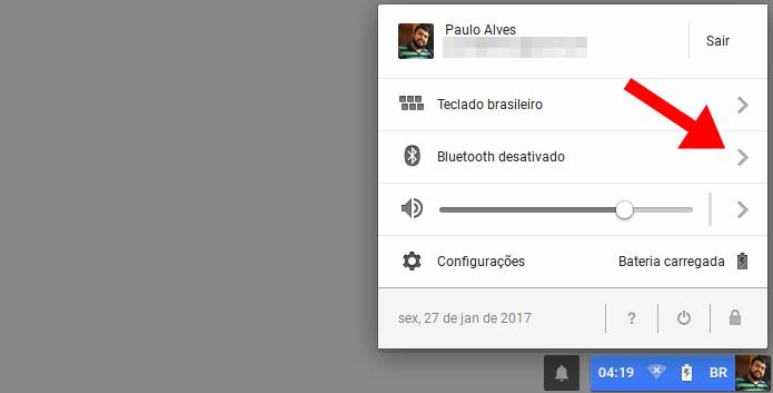 Acesse as configurações de Bluetooth (Foto: Reprodução/Paulo Alves)