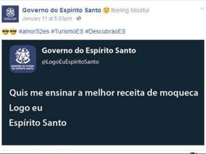 Duelo começou após post do Governo do ES (Foto: Reprodução/ Facebook)