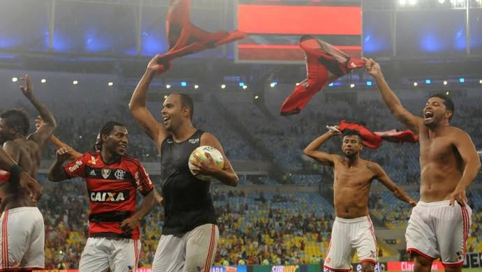 Amaral, Alecsandro, Leo Moura, Andre Santos, campeão carioca, Flamengo x Vasco (Foto: André Durão)