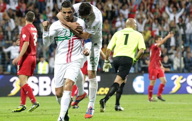 Cristiano Ronaldo, Luxemburgo x Portugal (Foto: Agência AP)