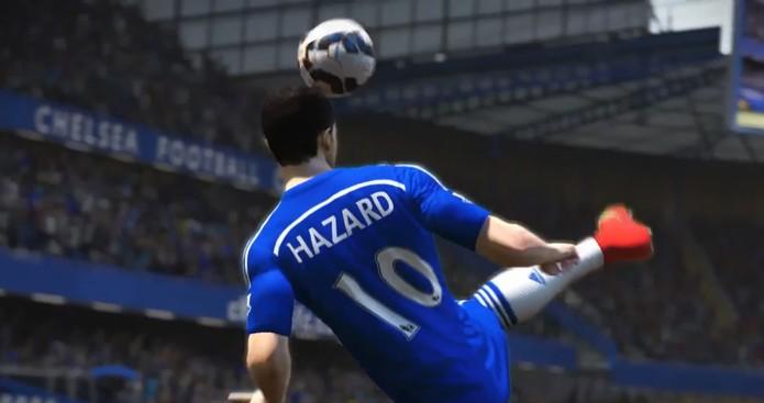 Hazard ensina os novos movimentos de habilidade no Fifa 15 (Foto: Reprodução/ Youtube)
