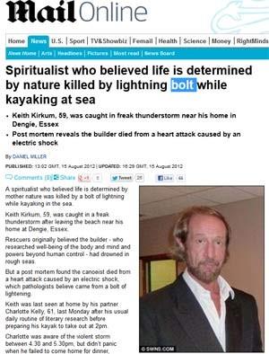 Keith Kirkum, que pesquisava e escrevia livros sobre espiritualidade (Foto: Reprodução / Daily Mail)