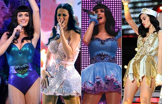 Figurinos de Katy Perry (Foto: Getty Images / Agência)