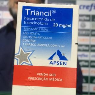 Medicamento doping Arouca Palmeiras (Foto: Rodrigo Faber)