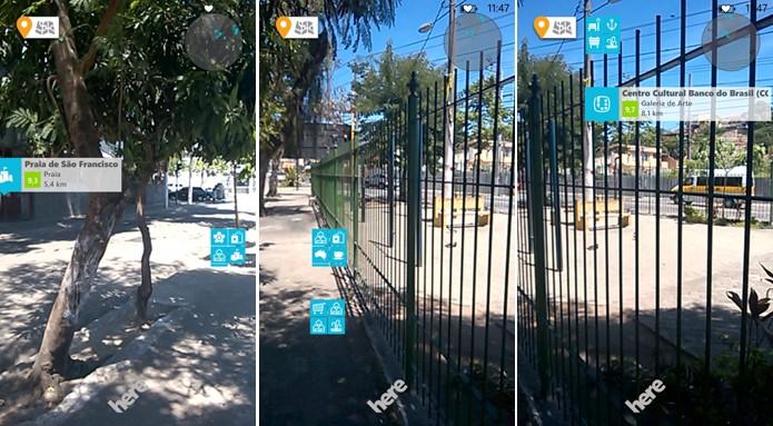 Foursquare usará câmera do Windows Phone para exibir locais próximos a partir da realidade aumentada (Foto: Reprodução/Elson de Souza)