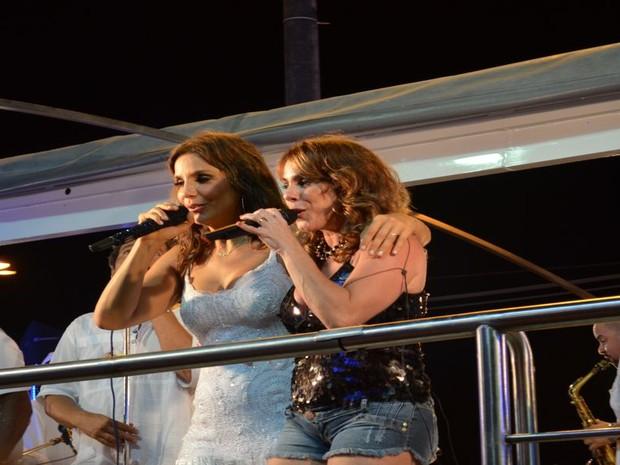 A cantora sergipana Ivana Dantas fez uma participação no trio de Ivete Sangalo (Foto: Flávio Antunes/G1SE)