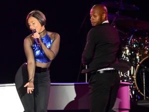 Alicia Keys durante show no Palco Mundo neste domingo (15) (Foto: Flavio Moraes/G1)