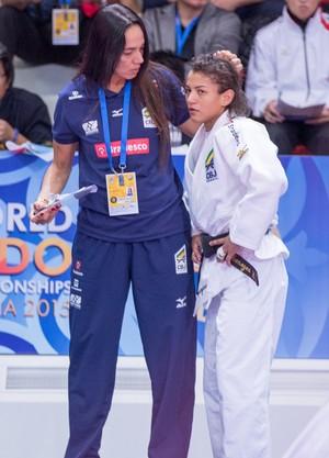 Sarah Menezes Rosicleia Campos Mundial Astana judô (Foto: Rafal Burza/CBJ)