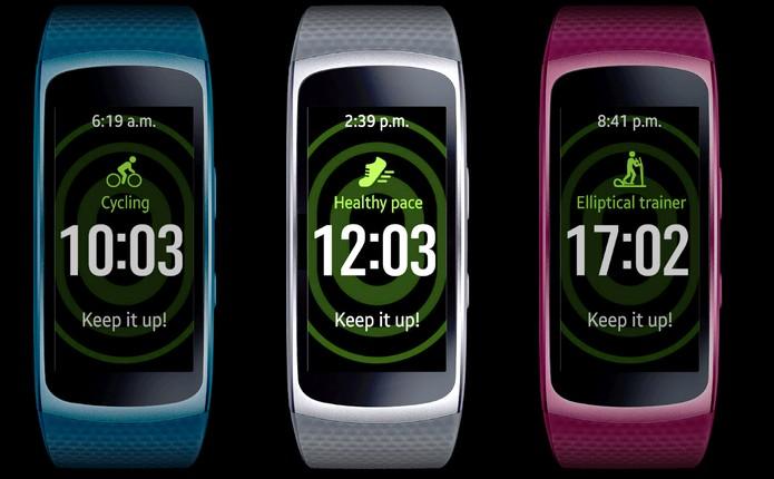 Gear Fit 2 oferece GPS e design resistente à água (Foto: Divulgação/Samsung)