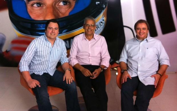 Linha de Chegada sobre Ayrton Senna com Rodrigo França e Ernesto Rodrigues (Foto: Divulgação/SporTV.com)