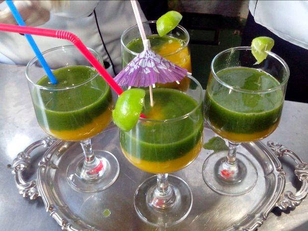 Drinks à base de caldo de cana na Expocrato (Foto: Biana Alencar/ TV Verdes Mares Cariri)