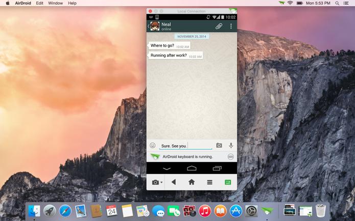 AirDroid permite espelhar tela do Android no computador, mas só com root (Foto: Divulgação)