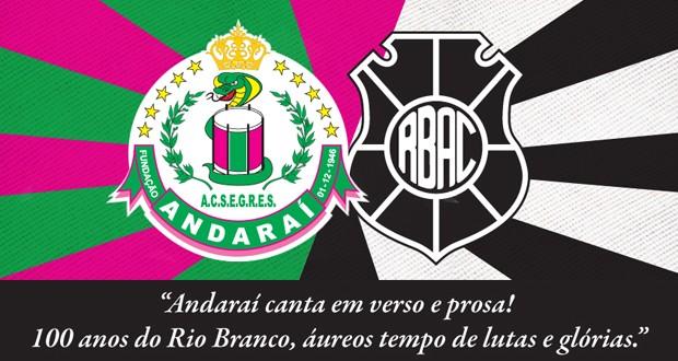 G.R.E.S. Andaraí vai homenagear os 100 anos do Rio Branco-ES (Foto: Divulgação)