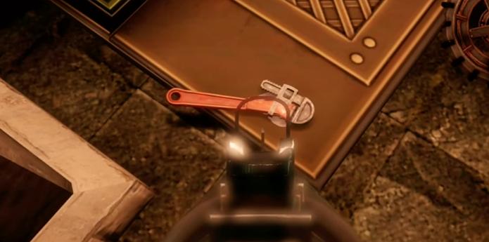 Arma do primeiro game pode ser encontrada no cenário (Foto: Divulgação)