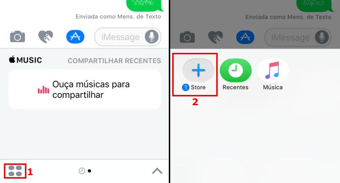 Acessando a App Store no iMessage (Foto: Reprodução/Edivaldo Brito)