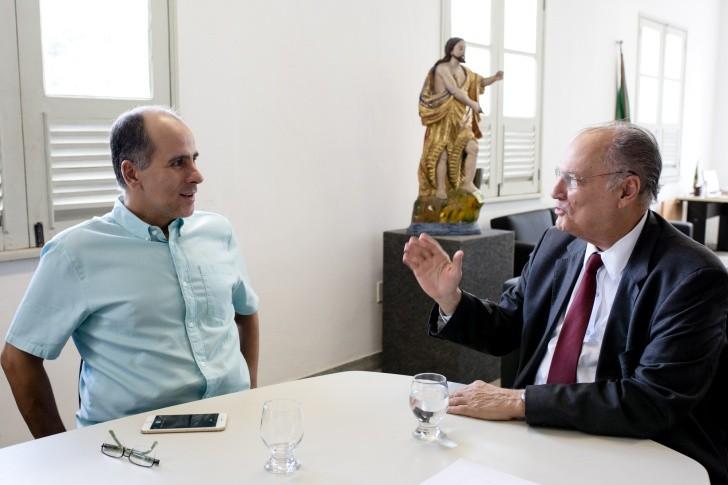 Luis Edurado Anutnes e Roberto Freire