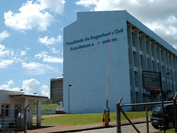 Prédio da engenharia civil da Unicamp, no campus de Campinas (Foto: Antonio Scarpinetti/ Ascom/ Unicamp)