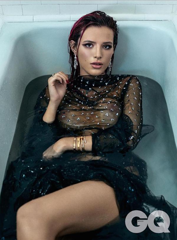 A atriz Bella Thorne em ensaio publicado na revista GQ do México (Foto: Divulgação)