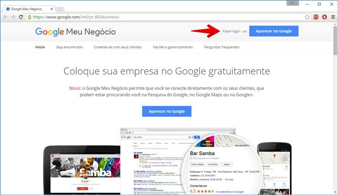 Clique em Fazer login (Foto: Felipe Alencar/TechTudo)