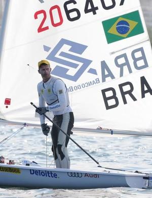 Robert Scheidt evento-teste vela Rio (Foto: André Durão)
